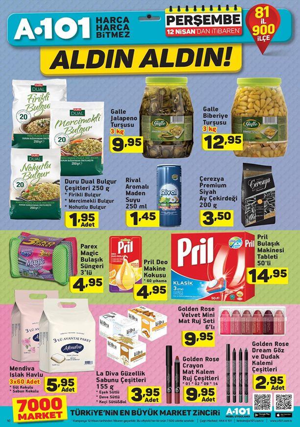 12 Nisan 2018 A101 Market Fırsat Ürünleri Kataloğu
