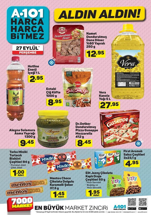 27 Eylül 2018 A101 Market Fırsat Ürünleri Kataloğu