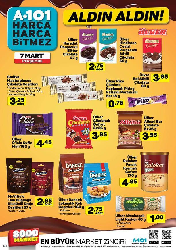 A101 07.03.2019 Perşembe Aktüel Kataloğu - Ülker Çikolata Çeşitleri