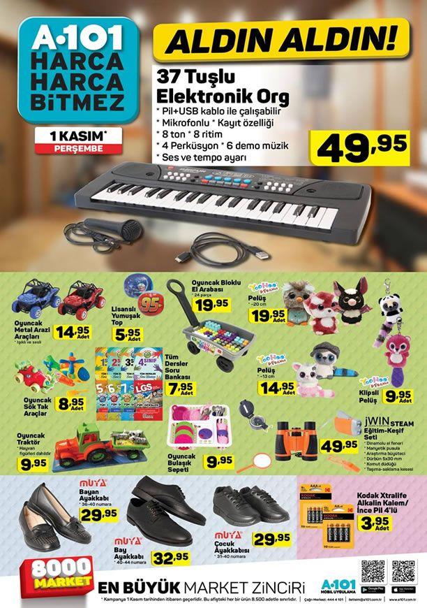 A101 1 Kasım - 7 Kasım 2018 Kataloğu - Elektronik Org