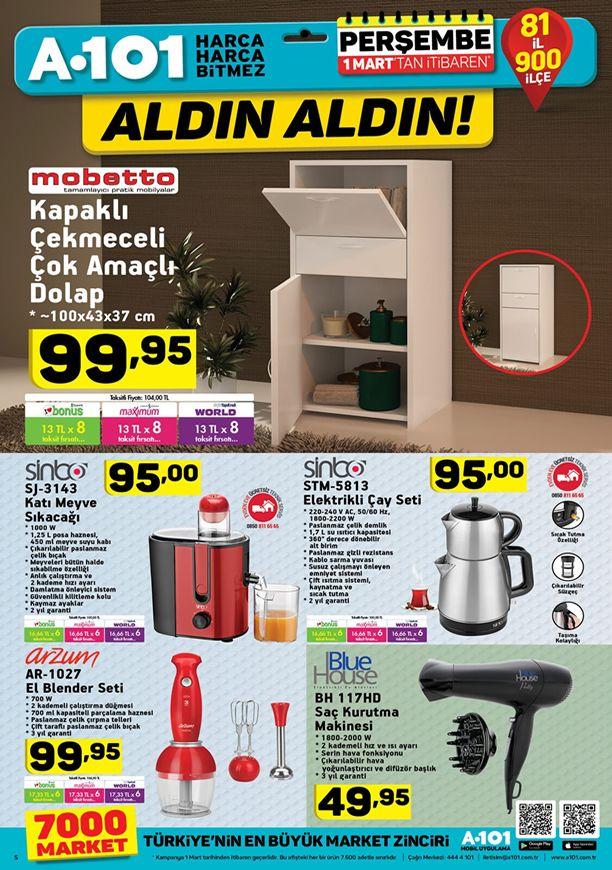 A101 1 Mart 2018 Fırsatları - Sinbo Elektrikli Çay Seti