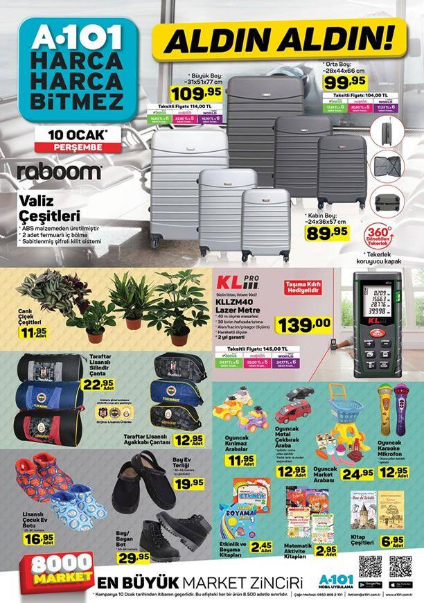 A101 10 Ocak 2019 Aktüel Ürünler Kataloğu - Lazer Metre