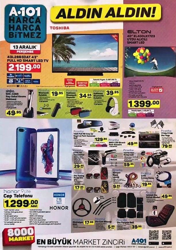 A101 13 Aralık 2018 Aktüel Ürünler - Honor 9 Lite Cep Telefonu