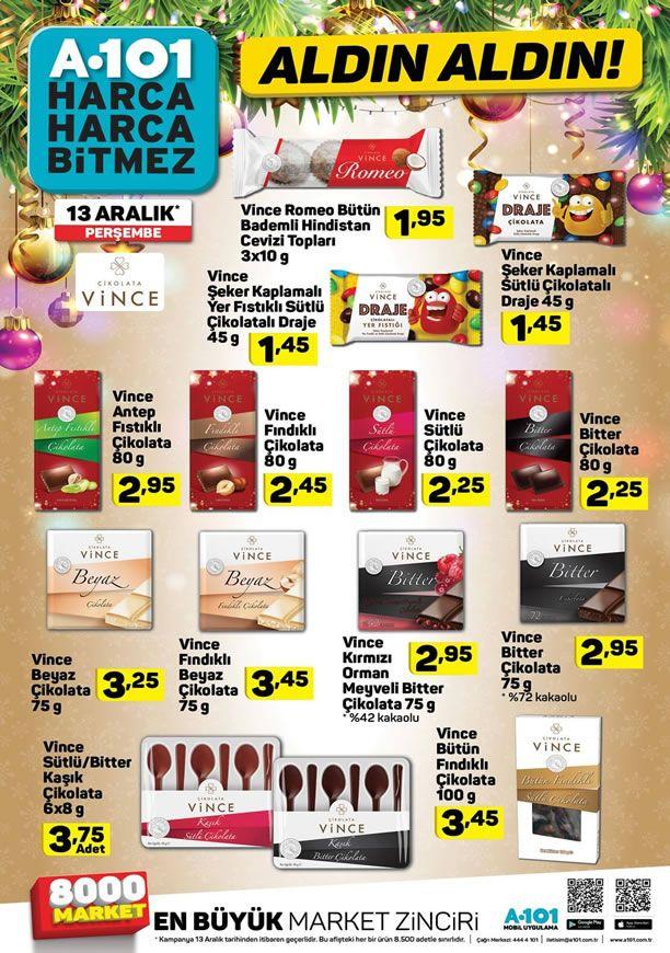 A101 13 Aralık 2018 Fırsat Ürünleri - Vince Çikolata