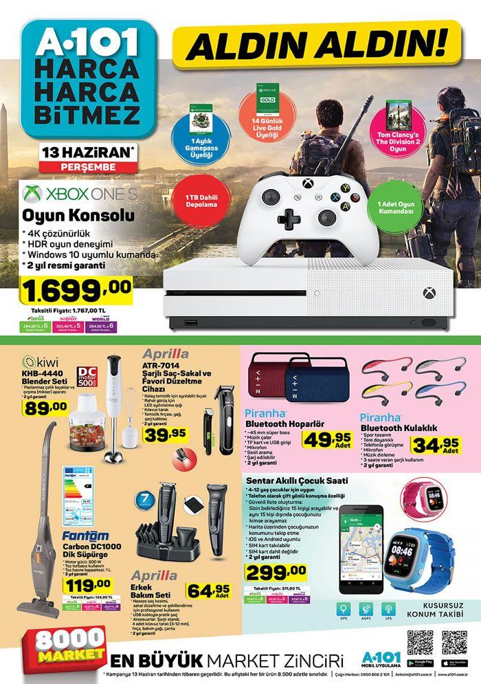 A101 13 Haziran 2019 Kataloğu - XBOX One S Oyun Konsolu