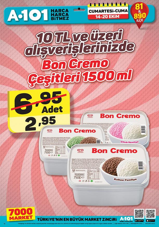 A101 14 Ekim 2017 - Bon Cremo Dondurma