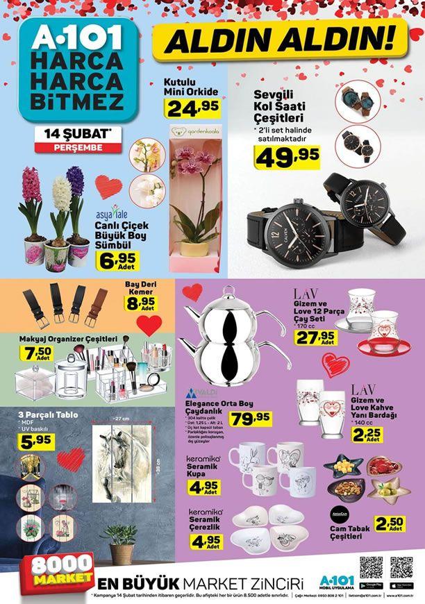 A101 14 Şubat 2019 Sevgililer Günü Fırsatları