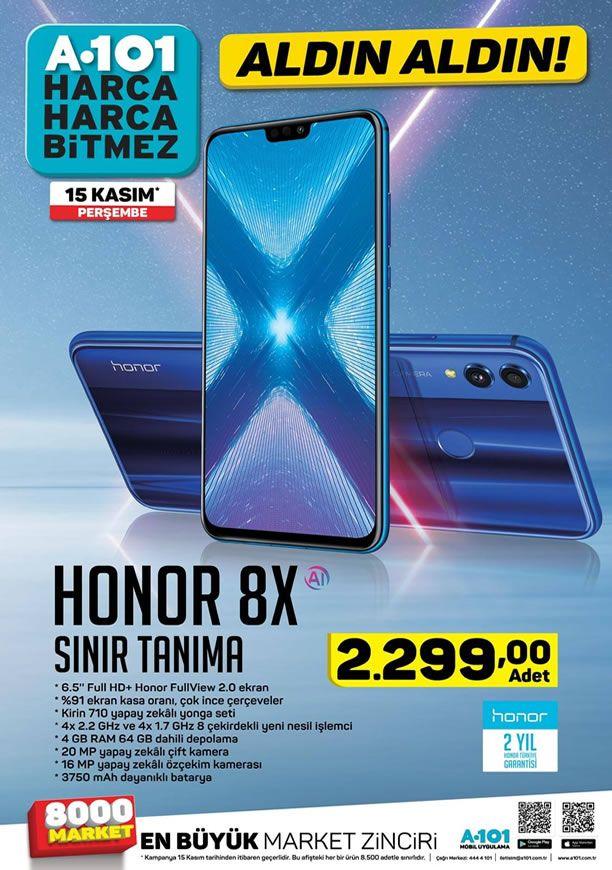 A101 15 Kasım 2018 Aktüel Kataloğu - Honor 8X Cep Telefonu