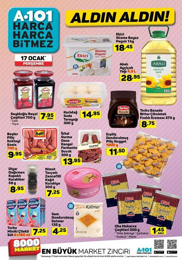 A101 17 Ocak 2019 Fırsat Ürünleri Kataloğu
