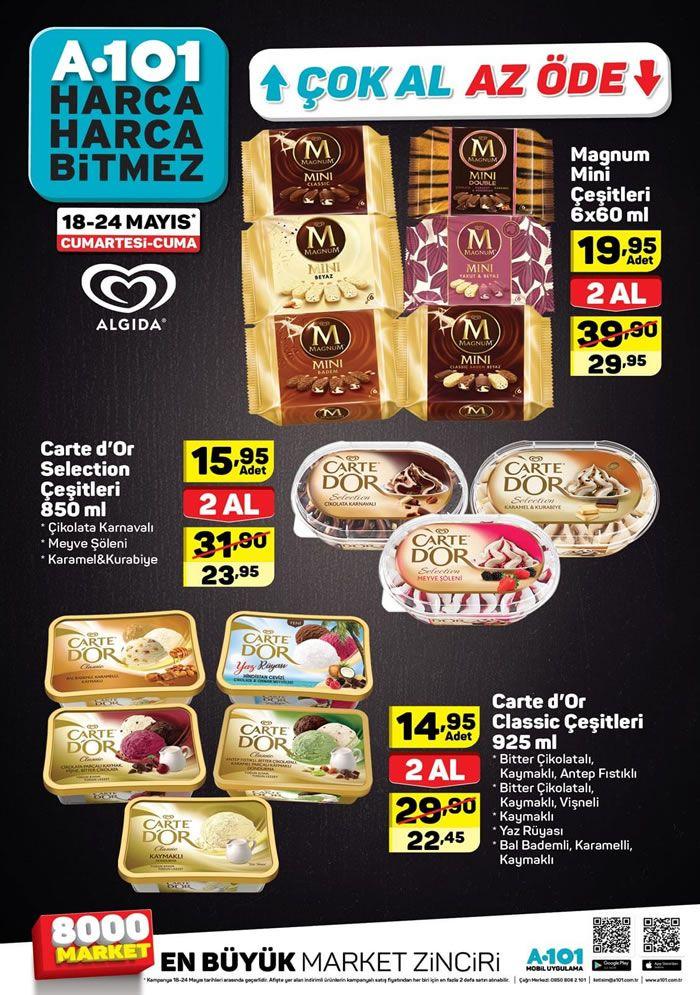 A101 18-24 Mayıs 2019 Çok Al Az Öde Dondurma Fiyatları
