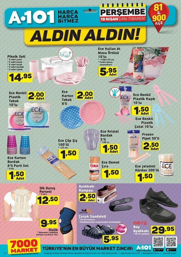 A101 19 Nisan 2018 Aktüel Ürün Kataloğu - Piknik Malzemeleri