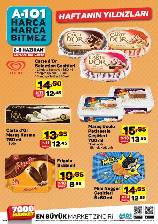 A101 2 Haziran 2018 Algida Dondurma Fiyatları Aktüel ürünler