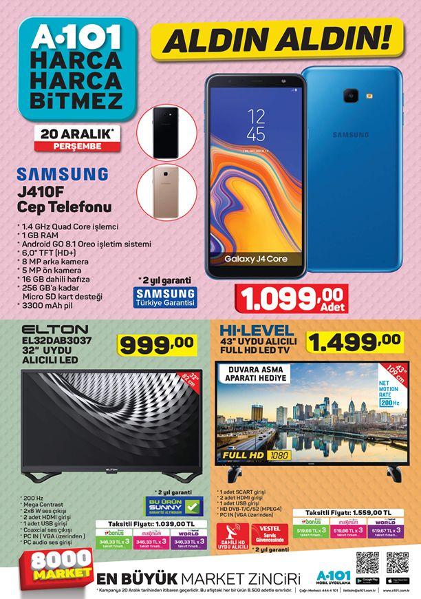 A101 20 Aralık 2018 Aktüel Kataloğu - Samsung Cep Telefonu