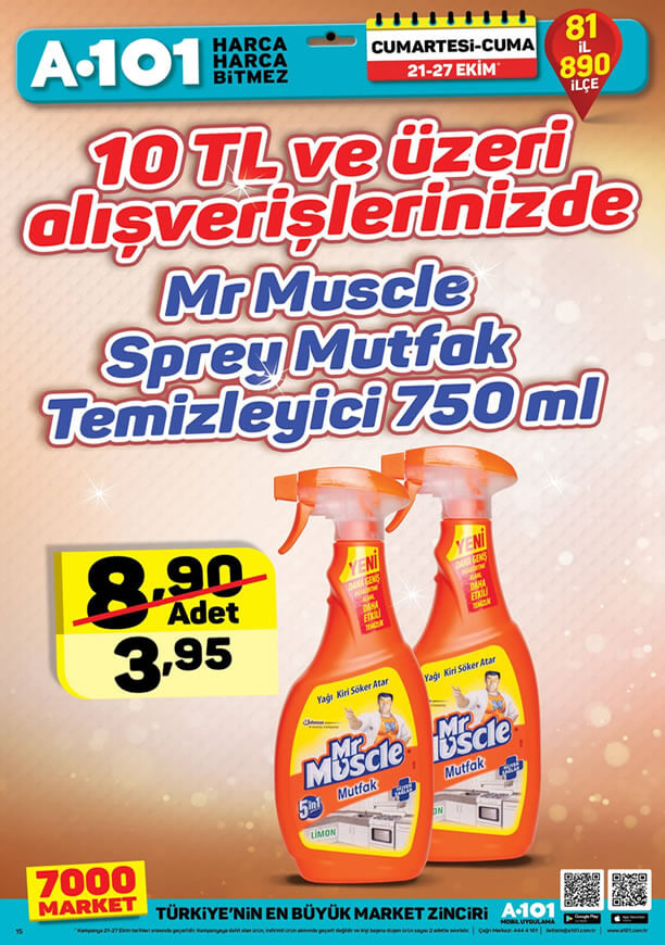A101 21 - 27 Ekim 2017 Kampanyası - Mr. Muscle