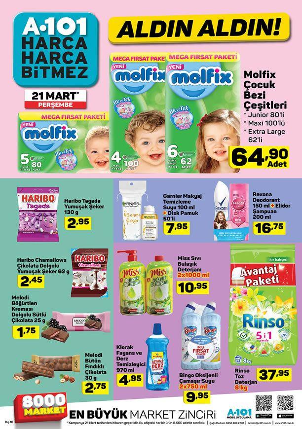 A101 21 Mart 2019 Fırsat Ürünleri Kataloğu - Molfix Çocuk Bezi