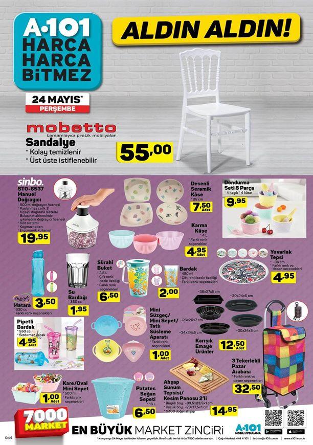 A101 24 - 30 Mayıs 2018 İndirimleri - Mobetto Sandalye