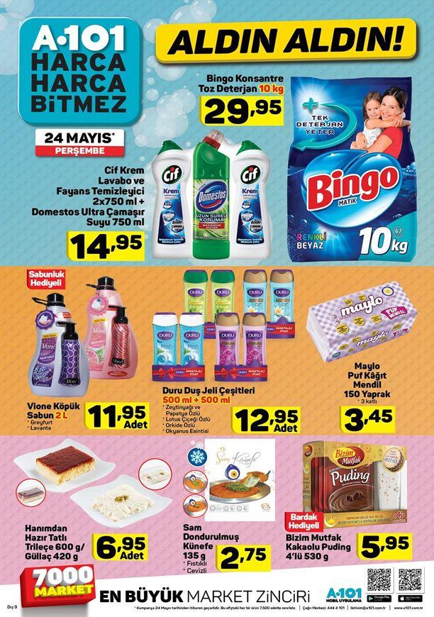 A101 24 Mayıs 2018 Fırsatları - Bingo Konsantre Toz Deterjan