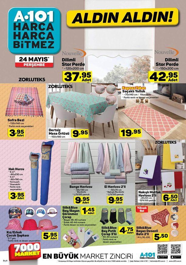 A101 24 Mayıs Perşembe Katalogu - Nouvelle Dilimli Stor Perde