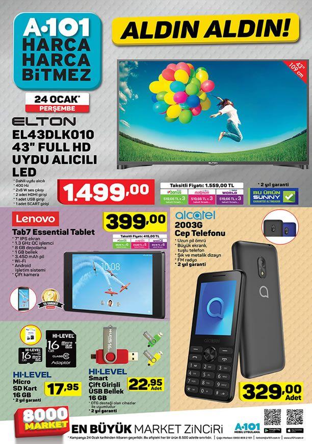 A101 24 Ocak 2019 Aktüel Kataloğu - Alcatel 2003G Cep Telefonu