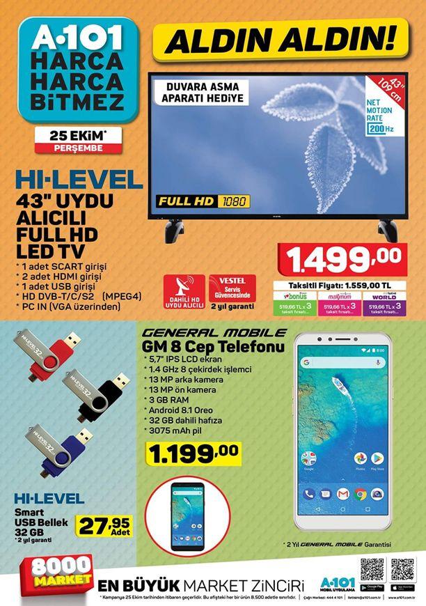 A101 25 Ekim 2018 Aktüel Kataloğu - General Mobile GM 8 Cep Telefonu