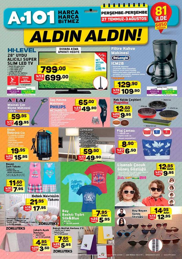 A101 27 Temmuz - 3 Ağustos 2017 Kataloğu - Lambader