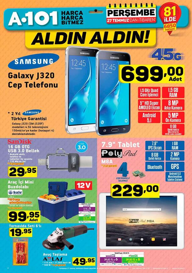 A101 27 Temmuz - Samsung Galaxy J320 Cep Telefonu