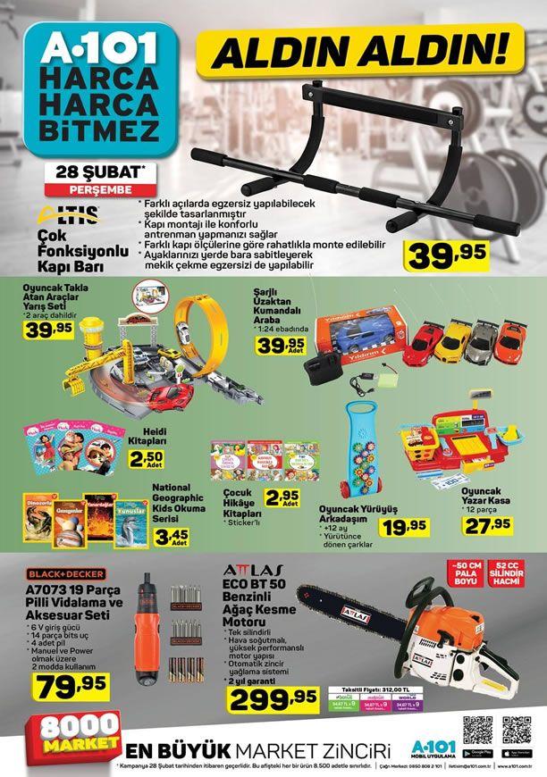 A101 28 Şubat 2019 Kataloğu - Attlas Benzinli Ağaç Kesme Motoru