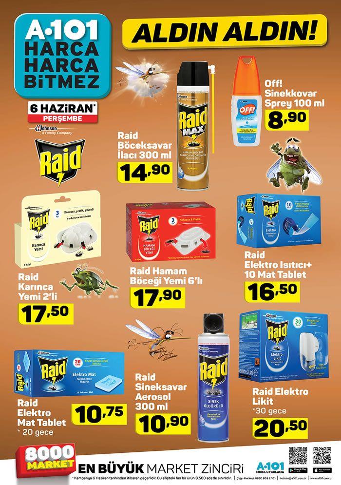 A101 6 Haziran 2019 Aktüel Kataloğu - Raid Sinek Kovucu Fiyatları