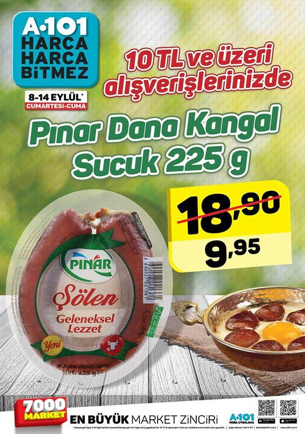 A101 8 Eylül 2018 İndirimleri - Pınar Dana Kangal Sucuk