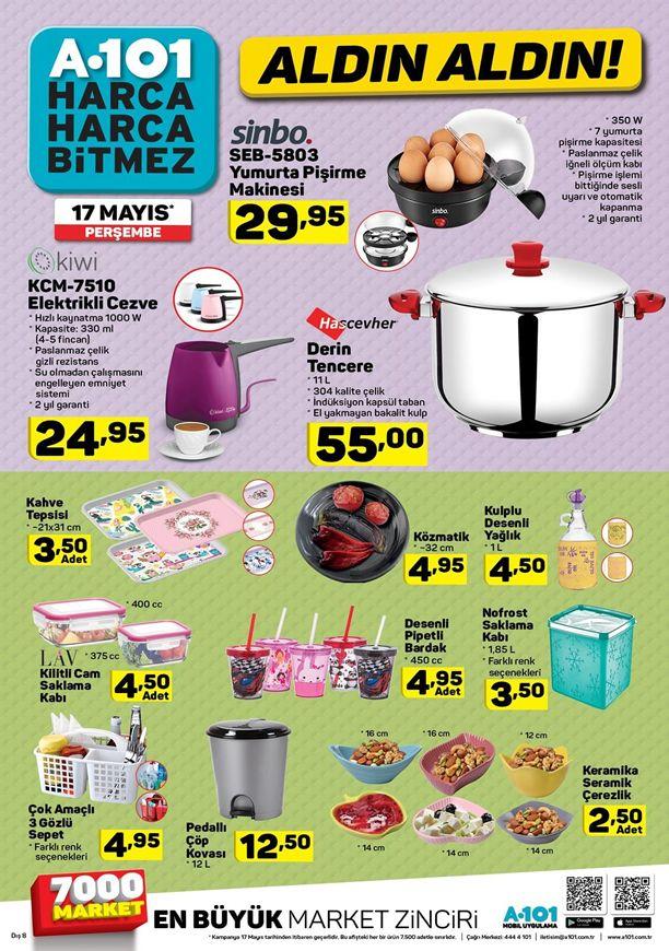 A101 Aktüel 17 Mayıs Kataloğu - Sinbo Yumurta Pişirme Makinesi