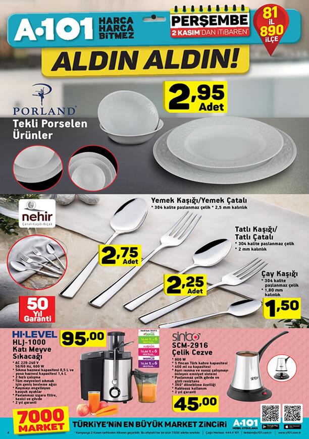 A101 Aktüel 2 Kasım 2017 Kataloğu - Porland Porselen