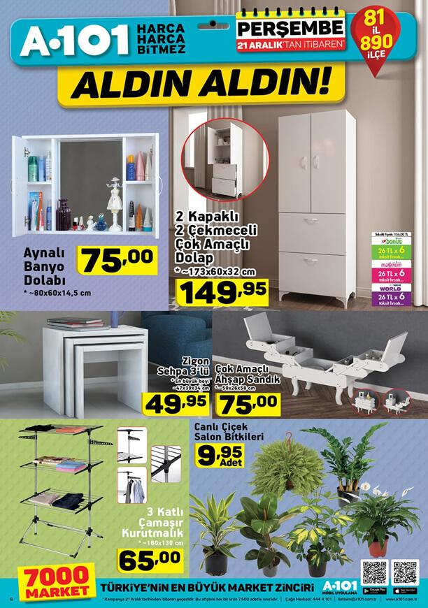 A101 Aktüel 21.12.2017 Katalogu - Aynalı Banyo Dolabı