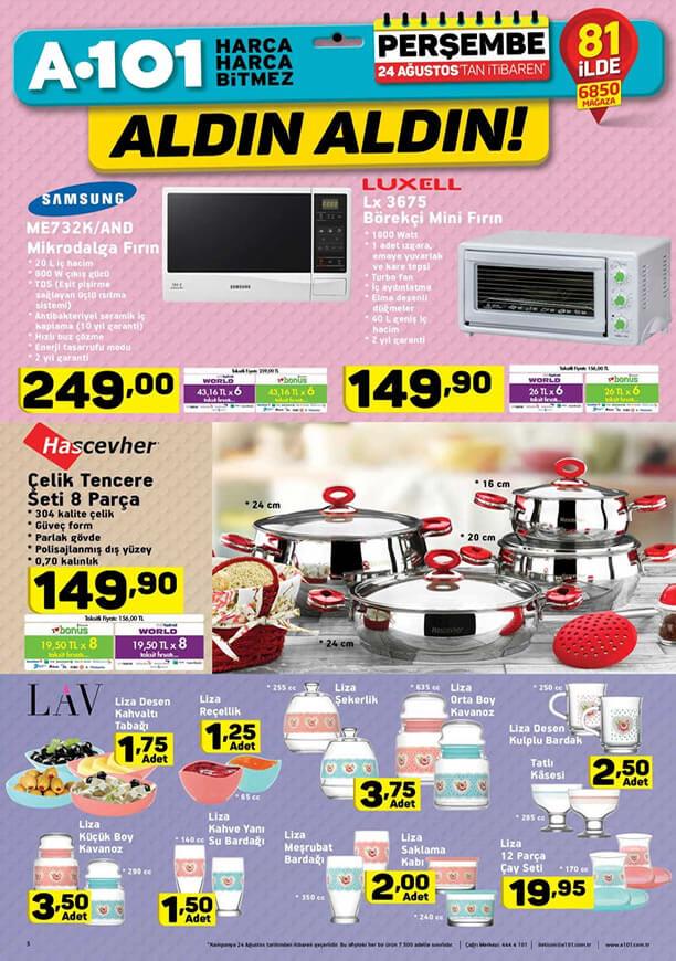 A101 Aktüel 24 Ağustos - Luxell Börekçi Mini Fırın
