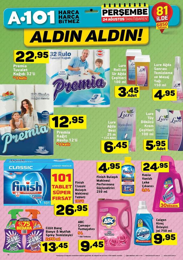 A101 Aktüel 24 Ağustos - Premia Tuvalet Kağıdı