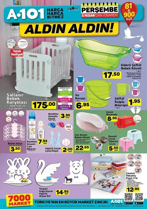 A101 Aktüel 5 Nisan 2018 Kataloğu - Bebek Beşiği