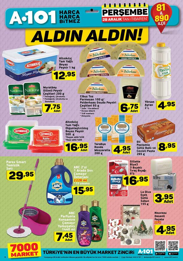 A101 Aktüel Ürünler 28 Aralık 2017 Katalogu