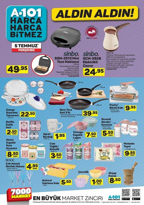 A101 Aktüel Ürünler 5 Temmuz 2018 Kataloğu - Sinbo Elektrikli Cezve