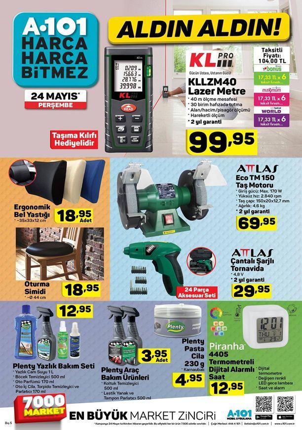 A101 Aldın Aldın 24 Mayıs Katalogu - Attlas Eco TM150 Taş Motoru