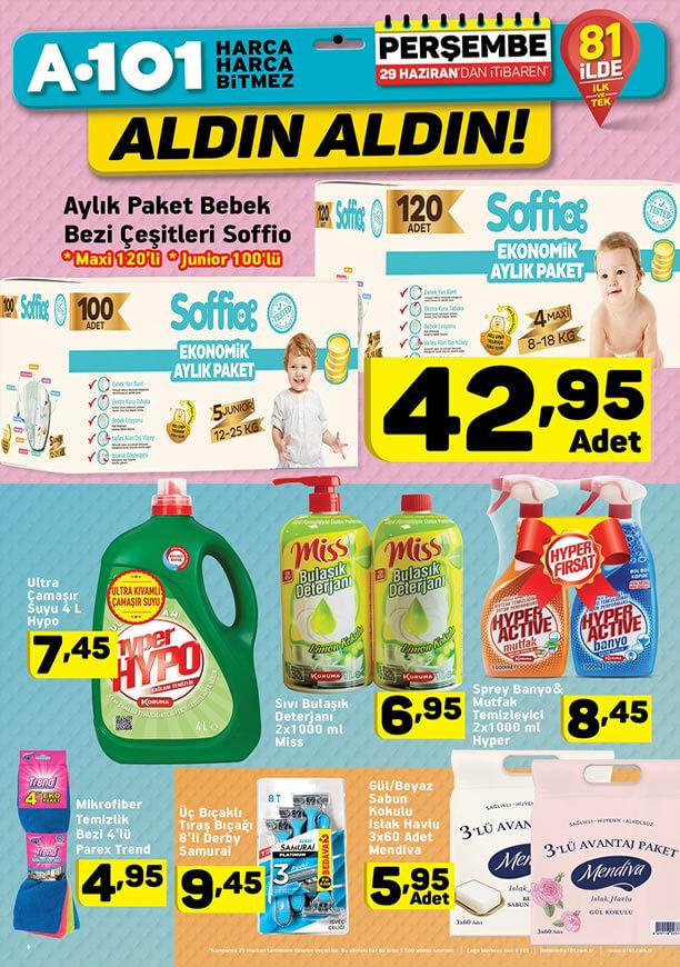 A101 Aldın Aldın 29 Haziran 2017 - Soffio Bebek Bezi