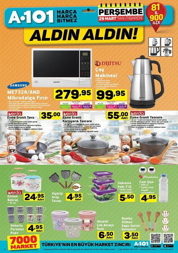 A101 Aldın Aldın 29 Mart 2018 Kataloğu - Dijitsu Çay Makinesi
