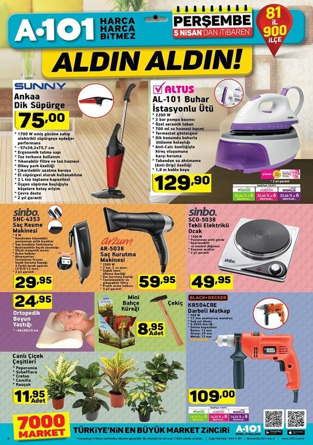 A101 Aldın Aldın 5 Nisan 2018 Kataloğu - Sunny Ankaa Dik Süpürge