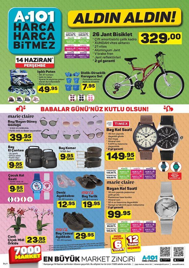 A101 Market 14 Haziran 2018 Katalogu - 26 Jant Bisiklet