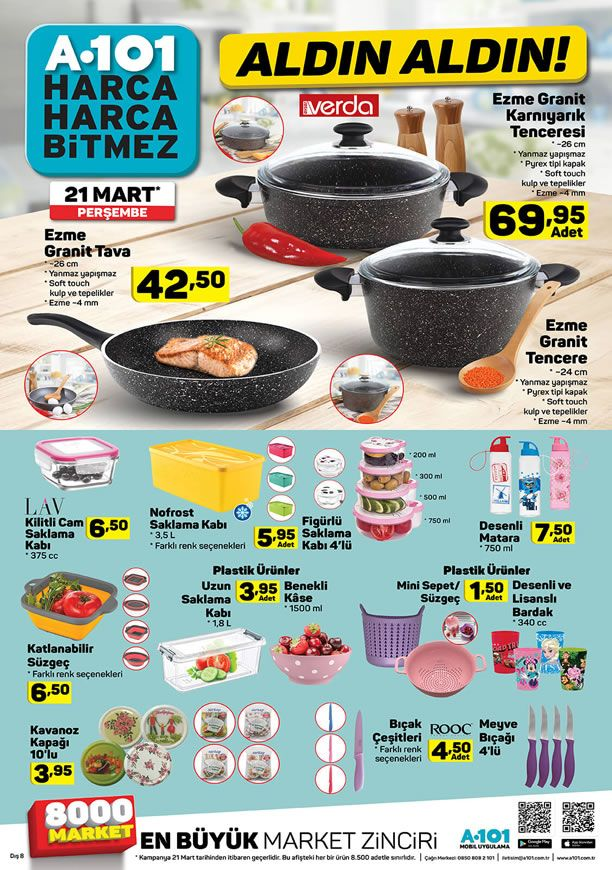 A101 Market 21 Mart 2019 Kampanyası - Verda Ezme Granit Tava