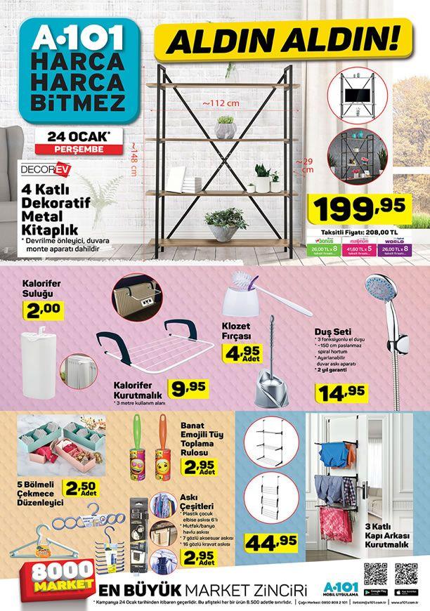 A101 Market 24 Ocak 2019 Kataloğu - Metal Kitaplık