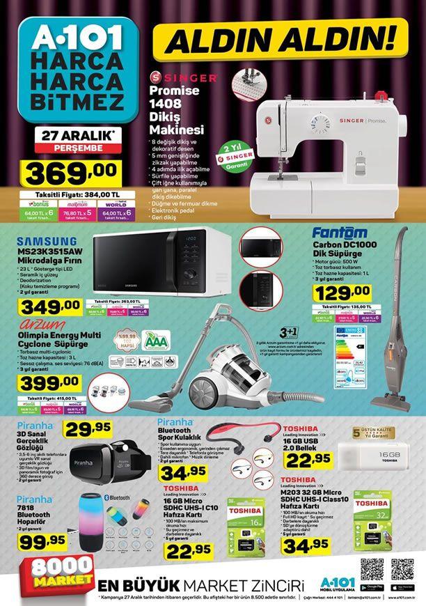 A101 Market 27 Aralık 2018 Kataloğu - Samsung Mikrodalga Fırın