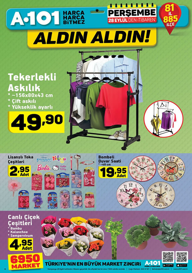 A101 Market 28 Eylül Kataloğu - Bombeli Duvar Saati