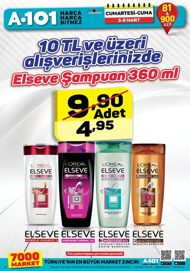 A101 Market 3 Mart 2018 İndirim Katalogu - Elseve Şampuan