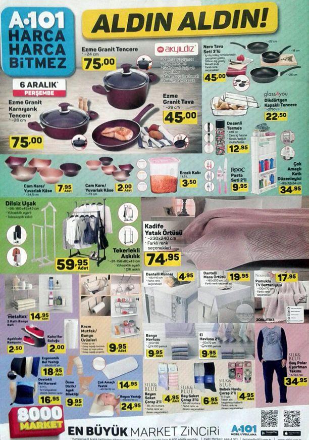 A101 Market 6 Aralık 2018 Aktüel Kataloğu