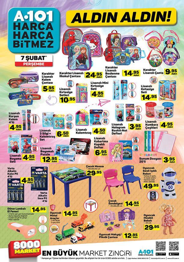 A101 Market 7 Şubat 201 İndirimleri - İlkokul Çantası