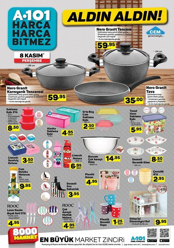 A101 Market 8 Kasım 2018 Kataloğu - Cem Nero Granit Tava